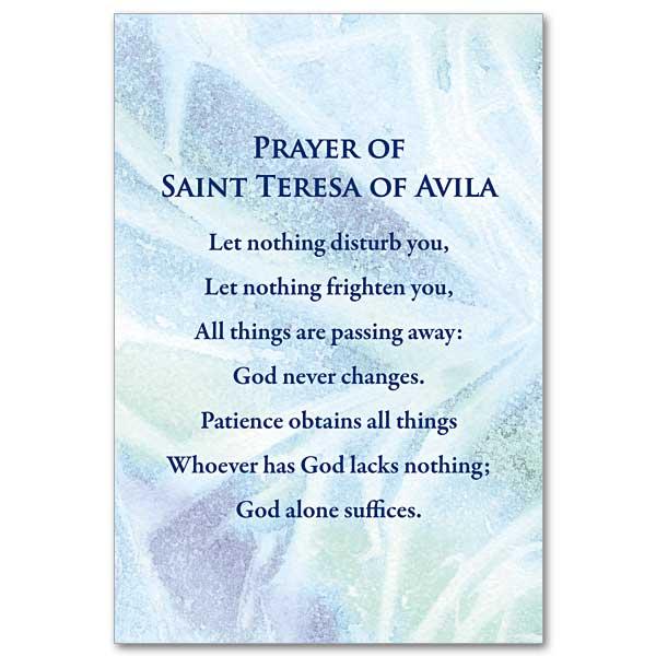 Prayer Of St Teresa Of Avila Mini Print