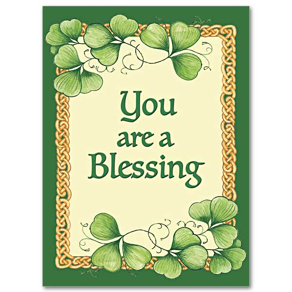 You Are A Blessing Abbey Irish Thank You Card