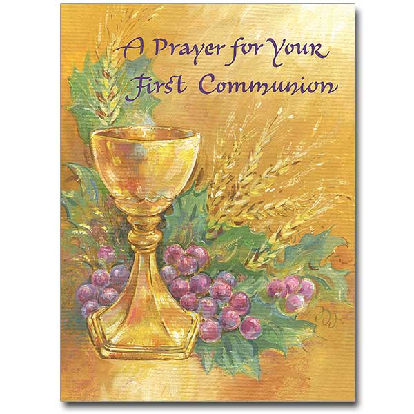 A Prayer For Your First Communion First Communion Card