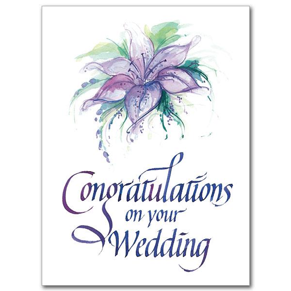 Congratulations On Your Wedding Wedding Congratulations Card