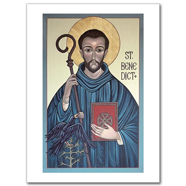 St Benedict Icon Greeting Card