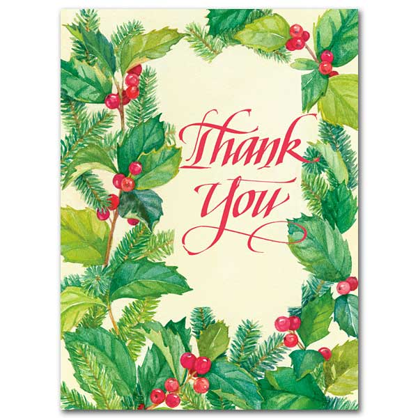 Thank You Christmas Thank You Cards