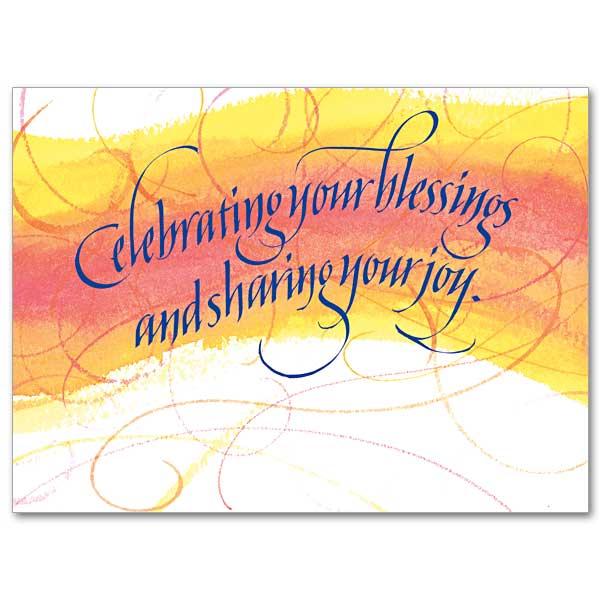 Celebrating Your Blessings Sharing Your Joy