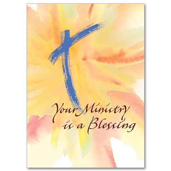 Your Ministry Is A Blessing Ministry Appreciation Card