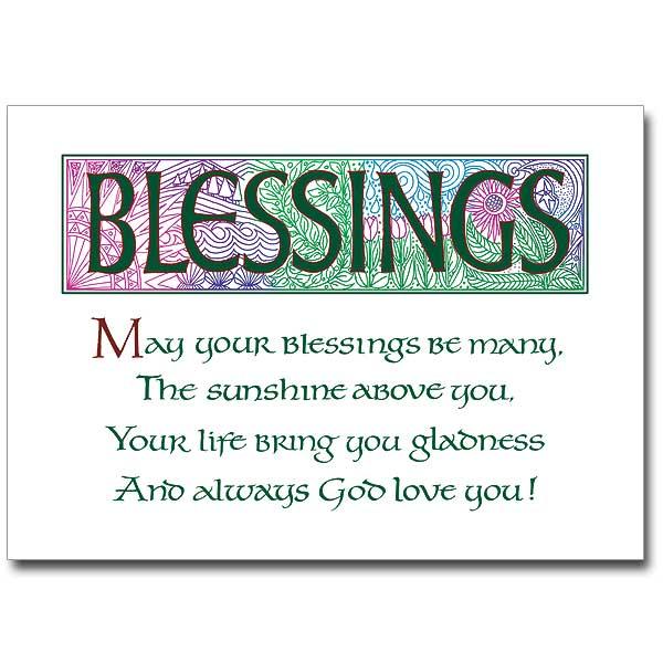 Blessings Irish Blessings Card