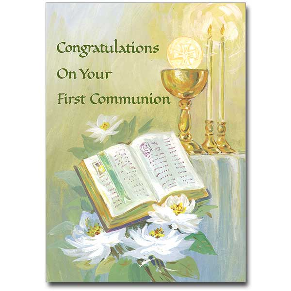 Congratulations On Your First Communion First Communion Card