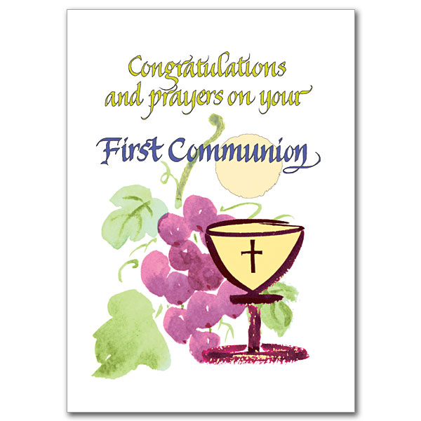 Congratulations And Prayers On Your First Communion First