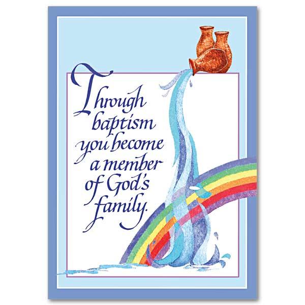 Member Of Gods Family Baptism Card Child Or Adult