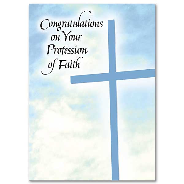 Congratulations On Your Profession Of Faith RCIA Card