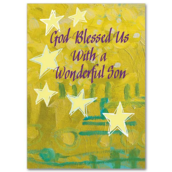 God Blessed Us With A Wonderful Son Birthday Card For Son