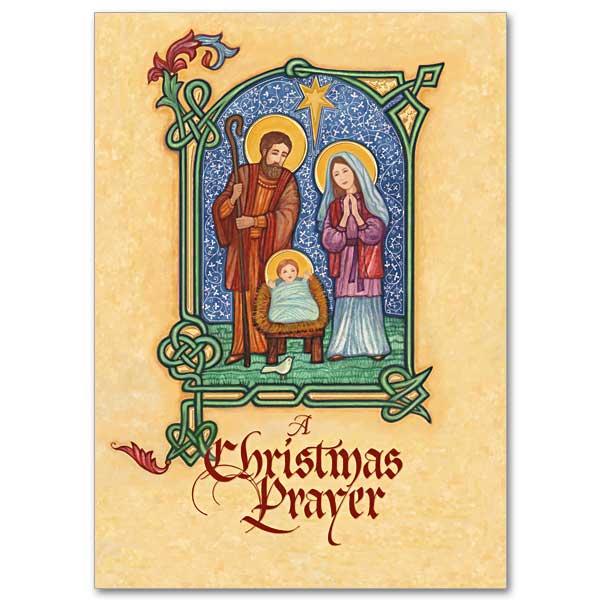 Illuminated Manuscript Nativity Miracle Of Christmas Card