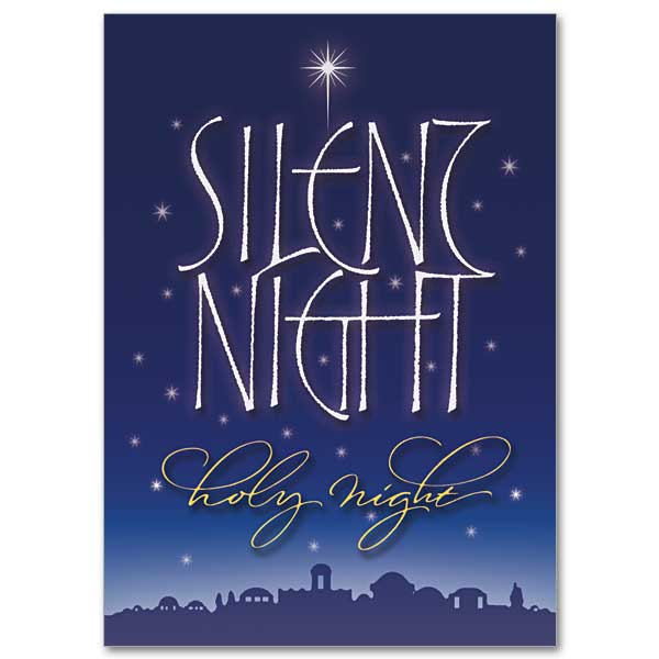 Silent Night Holy Night Miracle Of Christmas Card
