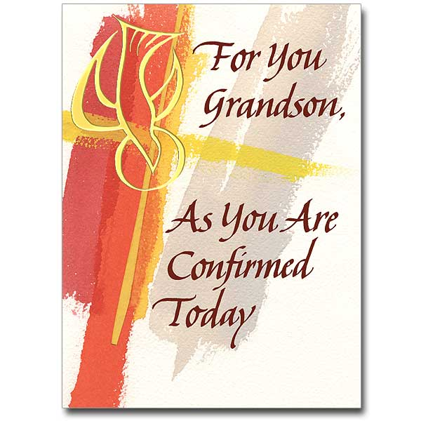 For You Grandson Confirmation Card Grandson