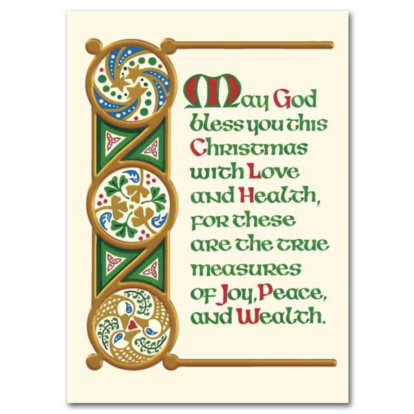 May God Bless You This Christmas Irish Christmas Cards