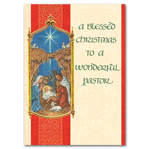 A Blessed Christmas To A Wonderful Pastor Christmas Card
