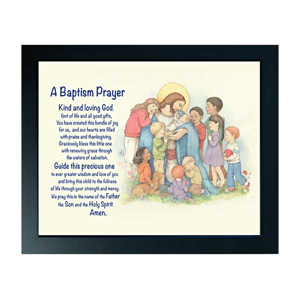 Baptism Prayer Baptism Framed Print