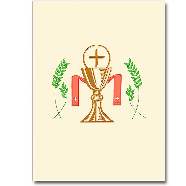 Chalice And Host With Stole Ordination Invitations