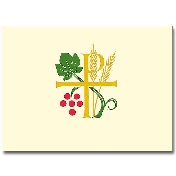 Chi Rho Wheat And Grapes Ordination Invitations