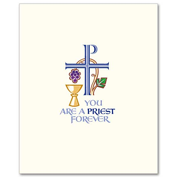 You Are A Priest Forever Priest Ordination Invitation Set