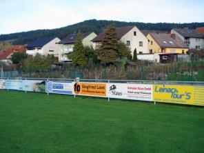 Beispiel für eine Bandenwerbung von Printex aus Würzburg.