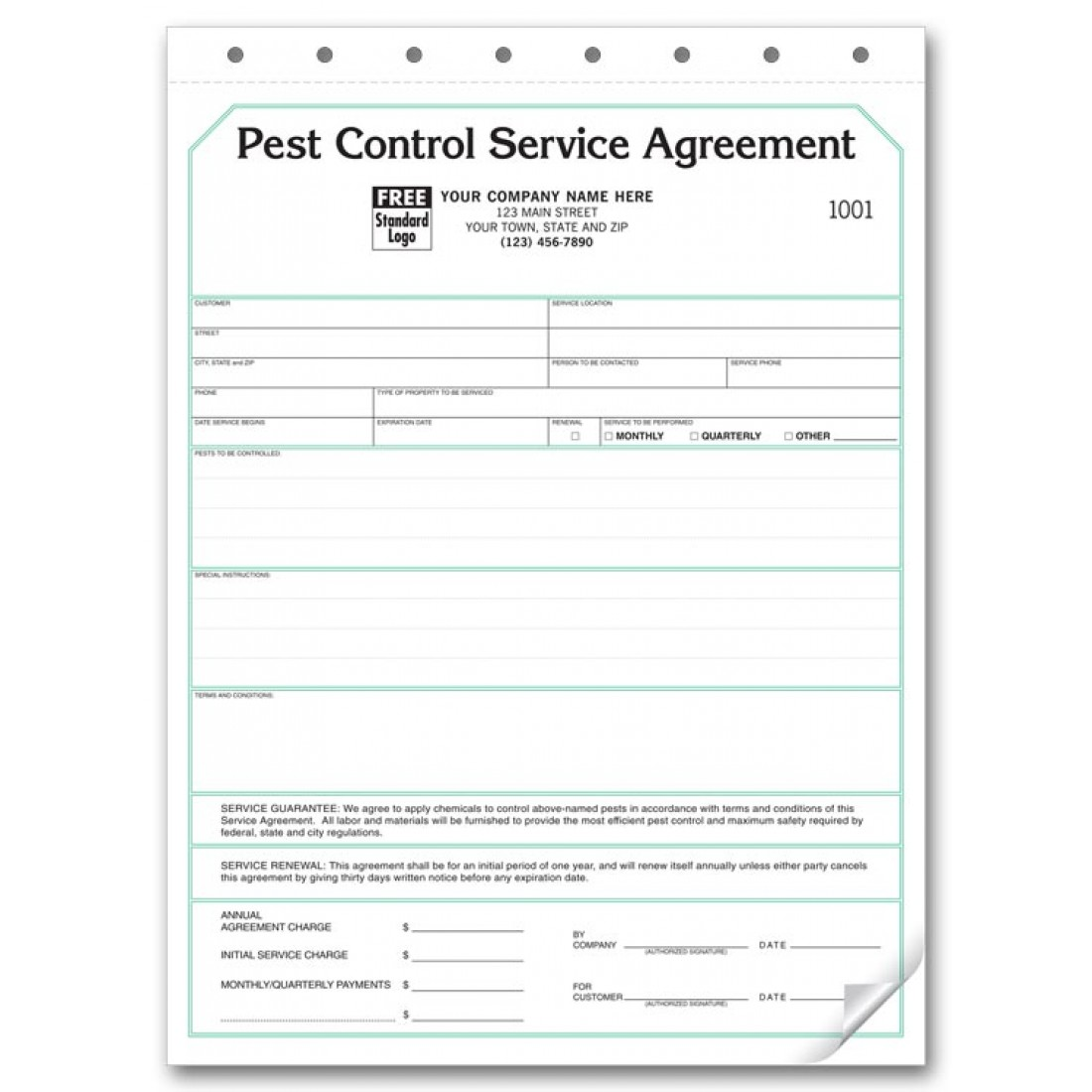 Pest Control Contract