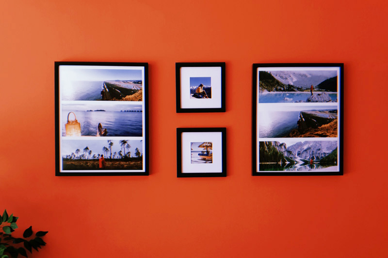 Wall Collage Ideas With Our Collage Photo Frames Print For Fun Blog