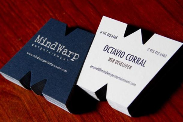 wild format business card