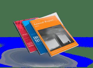 spiral bound booklet floating