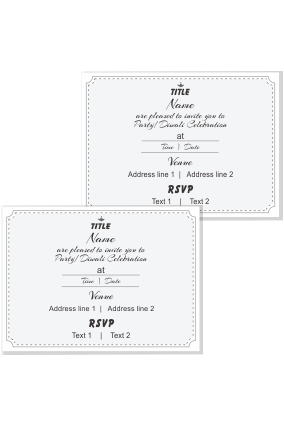 personalized birthday invitation card
