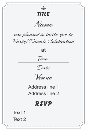 Create Your Own Invitation Card Double Side