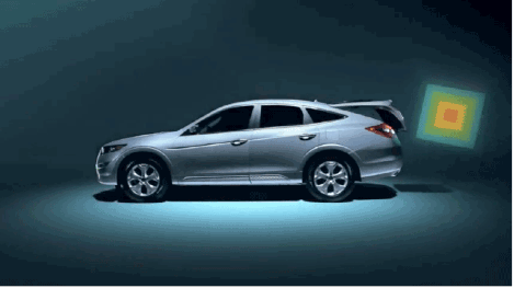 """Still from Honda Accord Crosstour """"Boxes"""" campaign, 2010"""