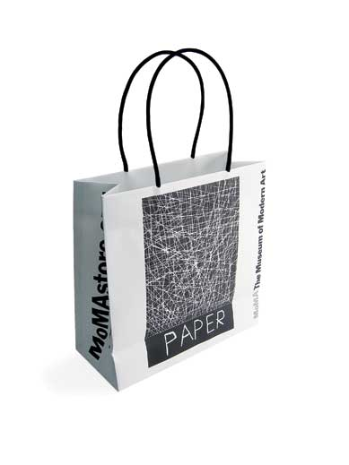 All of MoMA's packaging now uses Design & Source Productions' TerraSkin paper.