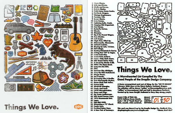 Silkscreen, front and back, designed by Aaron Draplin.