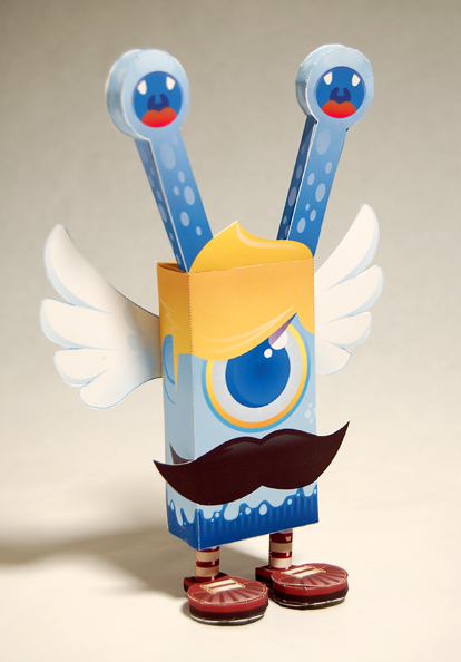 Boss Cyclops, a leechoso species of paper toy monster created by baykiddead and skinned by salazad.
