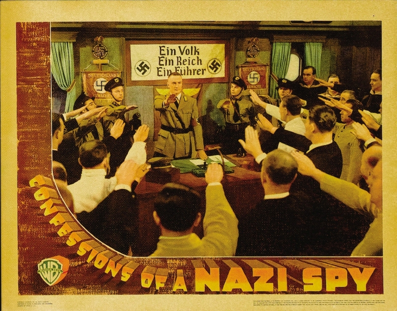 """""""Confessions of a Nazi Spy"""" Lobby Card"""