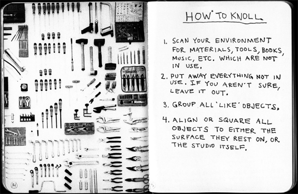 Tom Sachs   Always be Knolling