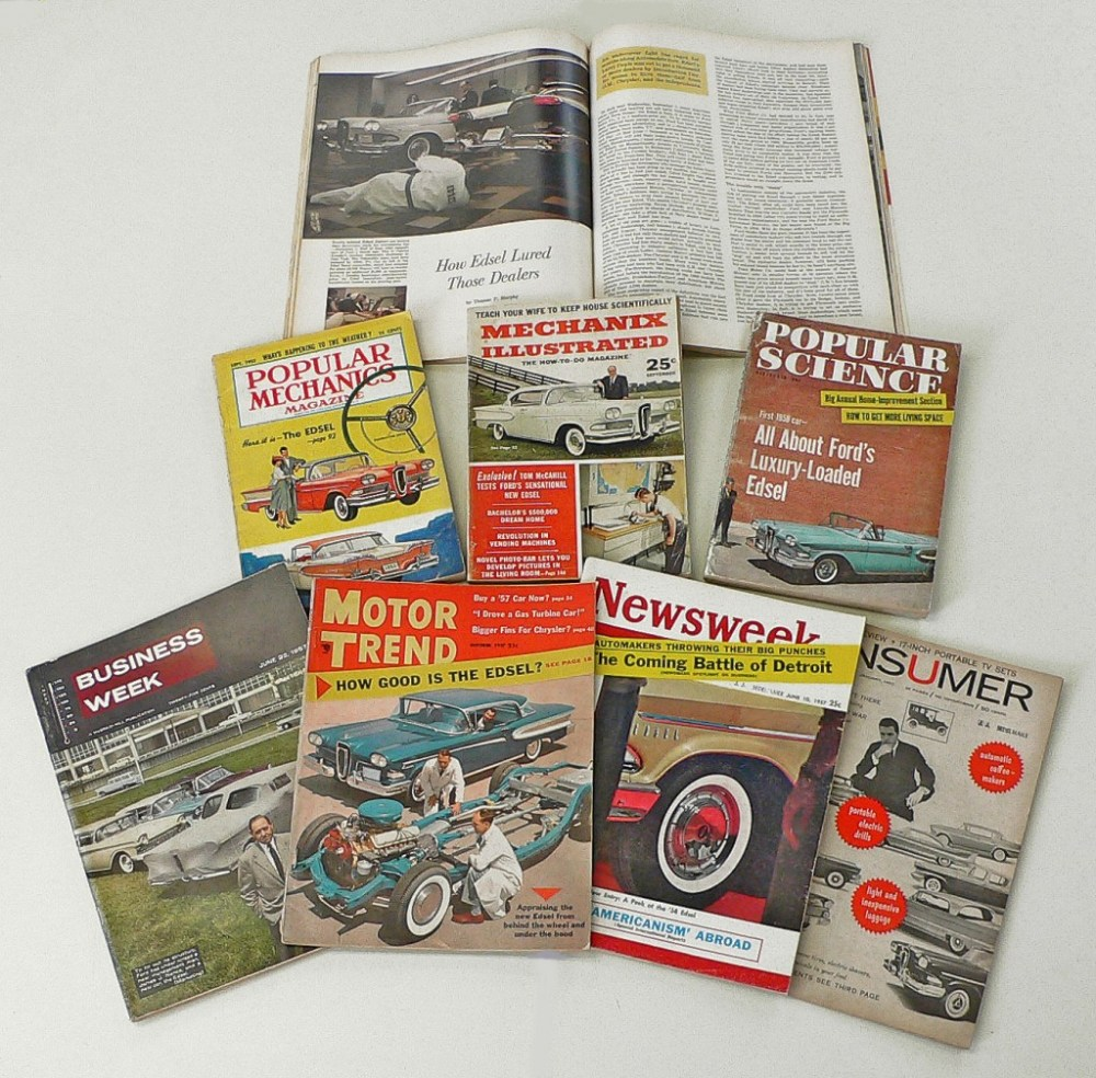 Magazines featuring Edsel launch stories 1957