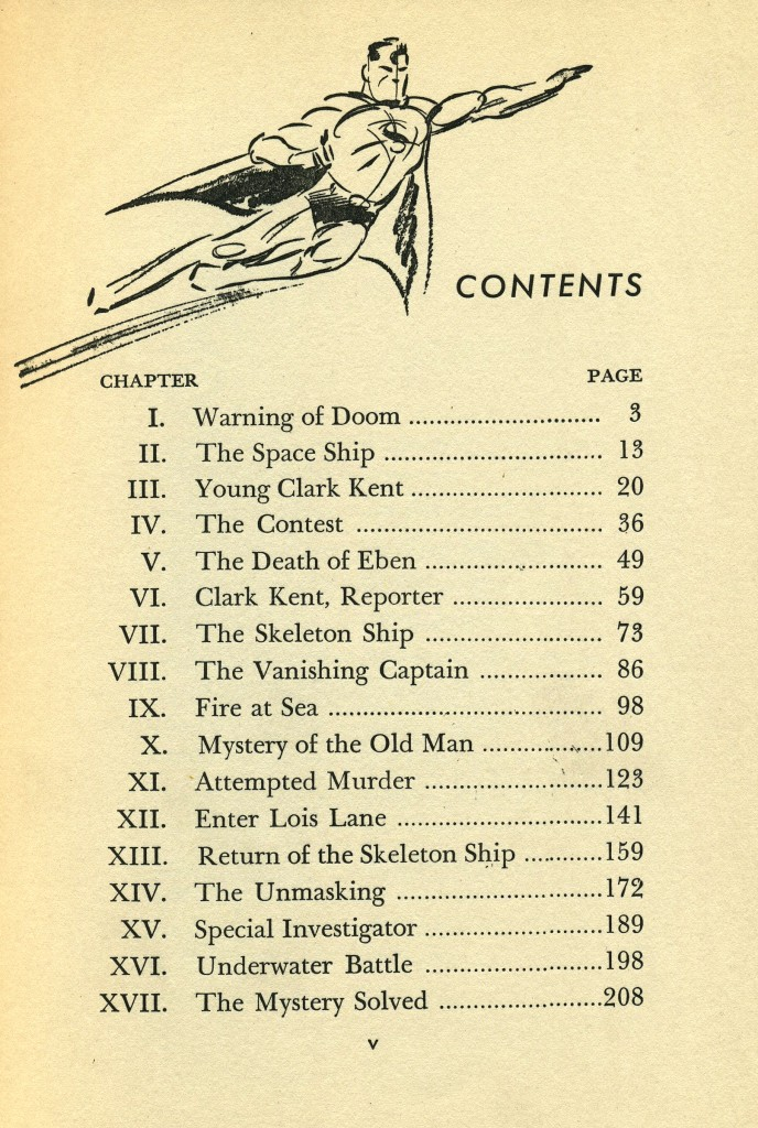 The Adventures of Superman TOC