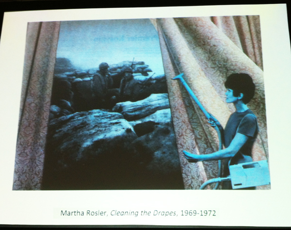Martha Rosler, Cleaning the Drapes, 1969- 1972