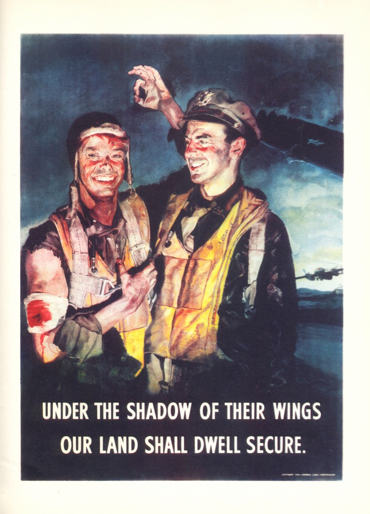 Under the shadow of their wings our land shall dwell secure