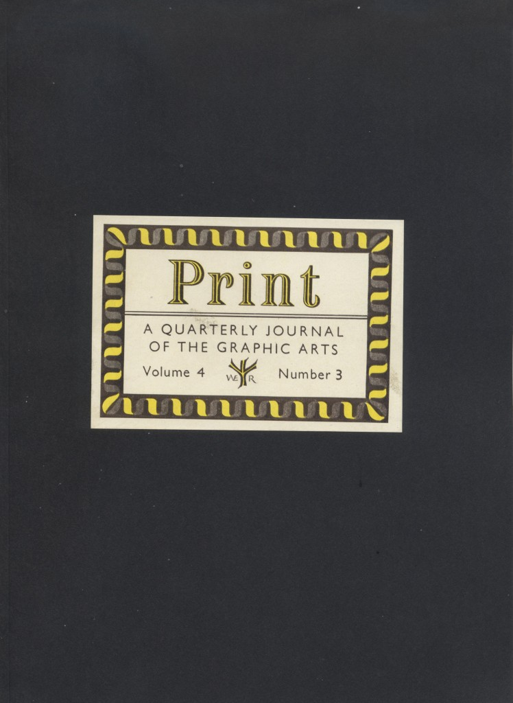 Volume IV, Number 3. Cover label by William G. Meek.