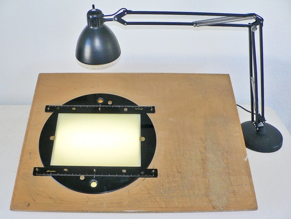 Straight-ahead view of the lightbox