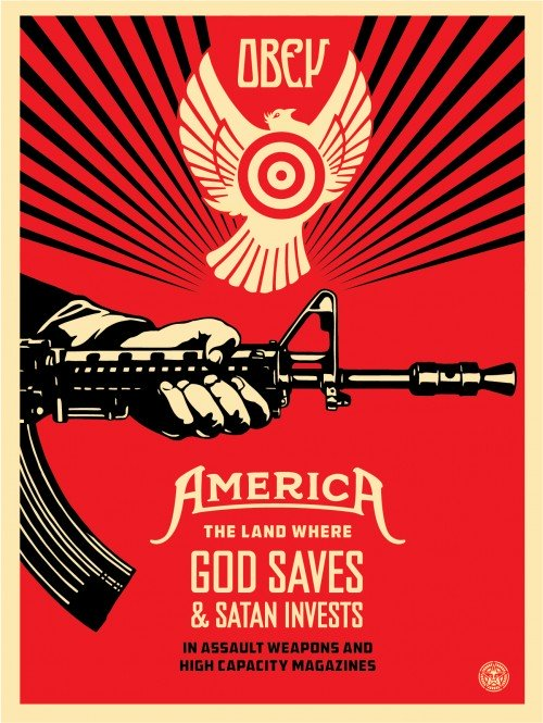 Thumbnail for Shepard Fairey's Message: God Saves and Satan Invests