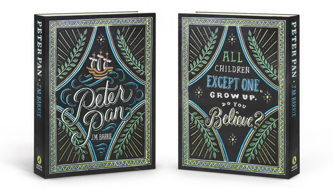 Extraordinary book jacket design by Tanamachi Studios for Puffin Books' recent redesigns of popular children's books. Wizard of Oz, Pippi Longstocking and Peter Pan (pictured below) are now available.
