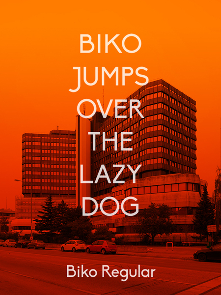 This simple, effective poster shows off the potential of new typeface Biko.