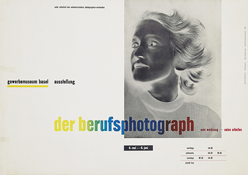 Lot 52 Jan Tschichold (1902–1974) DER BERUFSPHOTOGRAPH photomontage and letterpress, 1938, printed by Benno Schwabe & Co., Basel, condition B+; not backed 25 x 36in. (64 x 91cm.) Estimate: £8,000–12,000