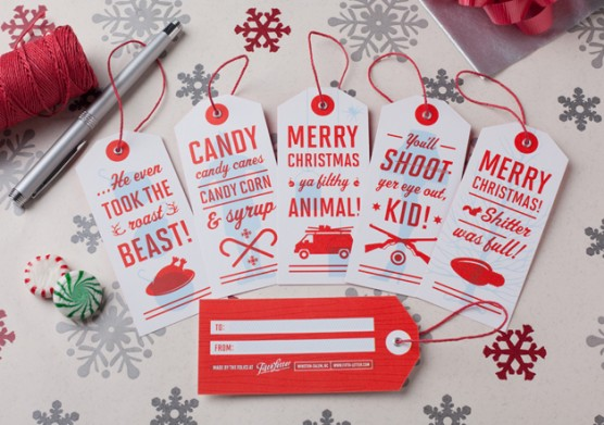 Fifth Letter Holiday Tags