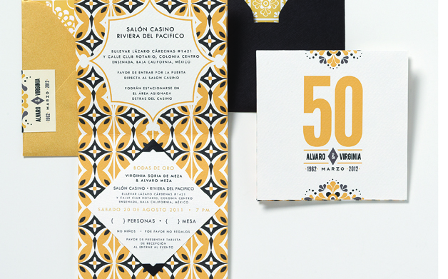 Mexican Tile-Inspired 50th Anniversary Invitation