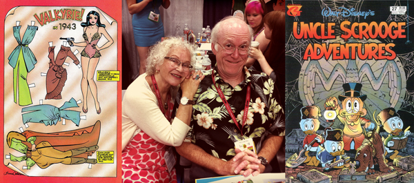 """Trina Robbins and Don Rosa; where else would a """"Tits & Clits"""" comix contributor cozy up to a devoted Disney duck man?"""