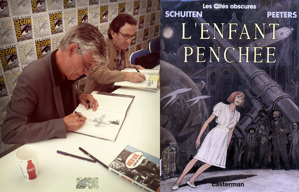 """Artist François Schuiten and author Benoît Peeters, two of many international guests, were on hand to autograph the latest American version of their """"Cités Obscures"""" graphic novel series."""